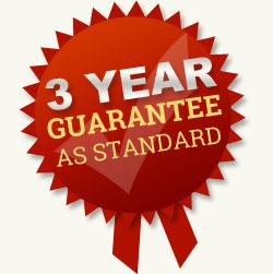 5 year guarantee as standard